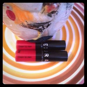 2 x Sephora Cream Lip Stain Lipstick Always Red